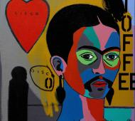 Johnny Romeo Cisco Disco 2012 acrylic and oil on canvas 61cm x 61cm